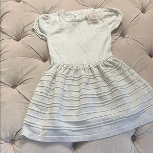 Girls gold sparkle sweater dress